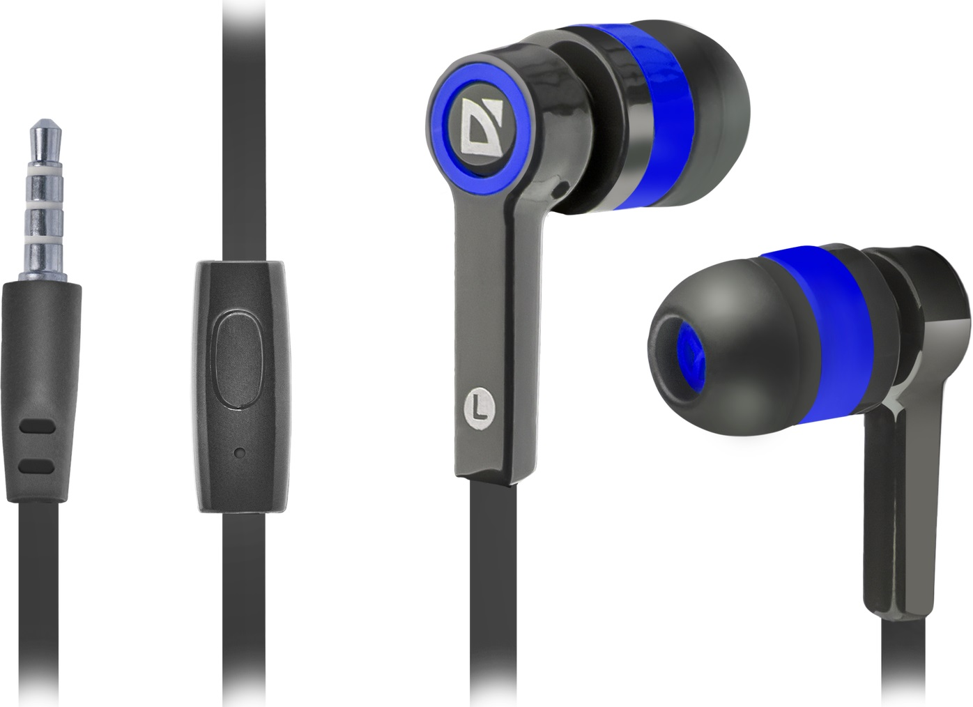 DEFENDER Pulse 420 black + blue in-ear