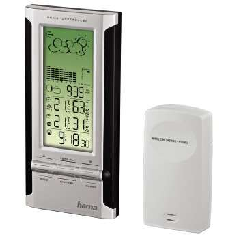 HAMA EWS-380 WEATHER STATION BL/SIL